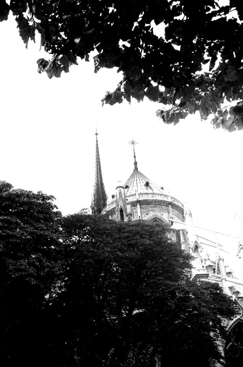 4 janvier bis - Arrivée à Paris en tant que jeune photographe pour la première fois en 1973, Notre Dame fait signe. Comment imaginer le centre de Paris sans la flèche de Viollet le Duc